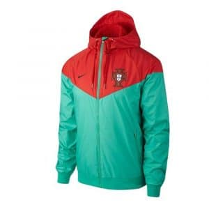Veste Windrunner de football de l'équipe du Portugal 2018