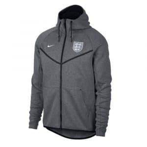 Coupe-vent gris de football de l'équipe d'Angleterre 2018