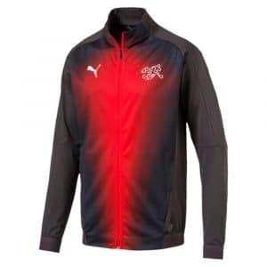 Veste de survêtement de foot de l'équipe de suisse 2018-2019