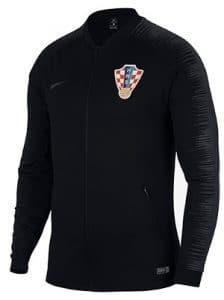 Veste noire de survetement equipe croatie 2018-2019