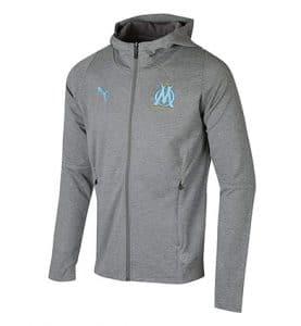 Veste à capuche Casual grise Olympique de Marseille 2018-2019