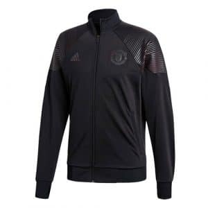 Veste de survetement Icon noire Manchester United 2018-2019