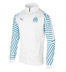 Veste de survêtement Olympique de Marseille Stadium blanche 2018-2019