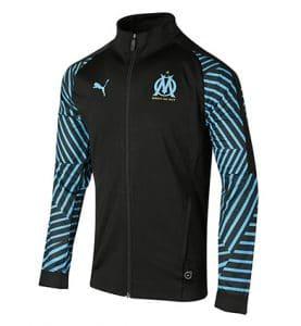 Veste de survêtement Olympique de Marseille Stadium noire 2018-2019
